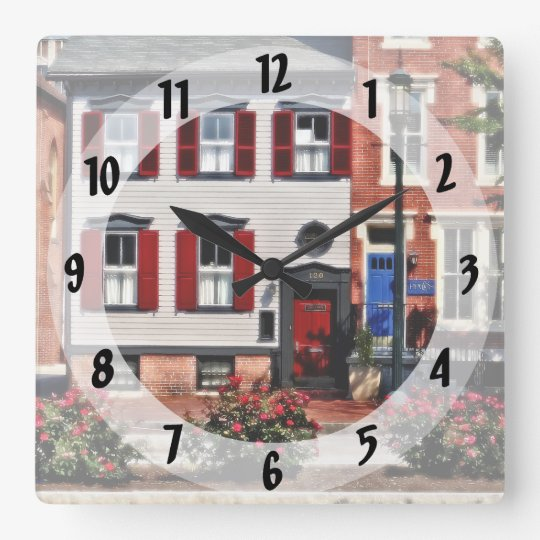 Harrisburg PA - Roses on State Street Square Wall Clock