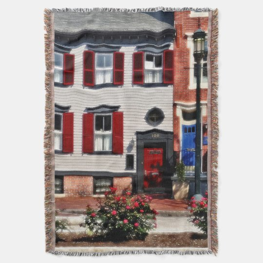 Harrisburg PA - Roses on State Street Throw Blanket