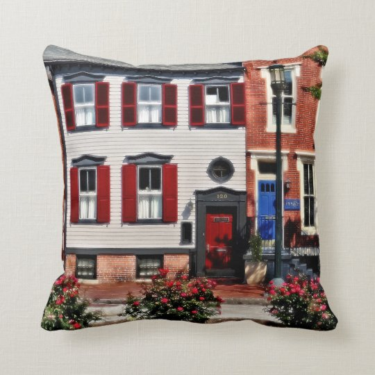 Harrisburg PA - Roses on State Street Throw Pillow