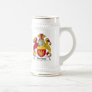 Harrison Family Crest Beer Stein