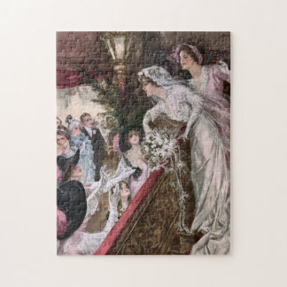 Harrison Fisher: Catch the Bridal Bouquet Jigsaw Puzzle