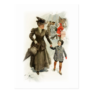 Harrison Fisher Heart's Desire Xmas Santa Claus Postcard