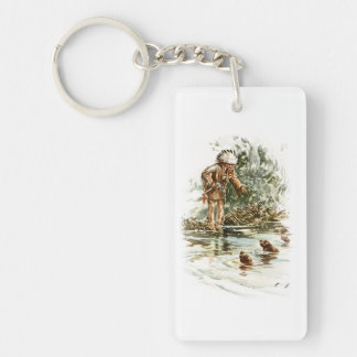 Harrison Fisher Song of Hiawatha Red Indian Otters Keychain