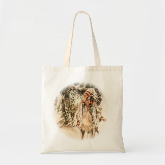 Harrison Fisher Song of Hiawatha Red Indian Tote Bag
