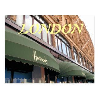 Harrods London UK postcard