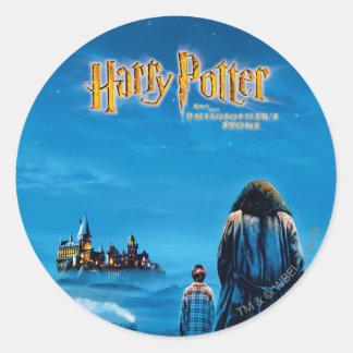 Harry and Hagrid International Movie Poster Round Sticker