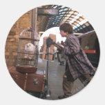 Harry and Hedwig PLATFORM 9 3/4™ Round Sticker