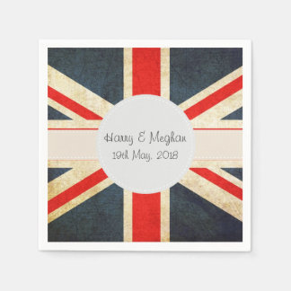 Harry and Meghan Royal Wedding Paper Napins Napkin