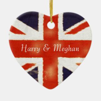 Harry and Meghan Royal Wedding UK Flag Ornament
