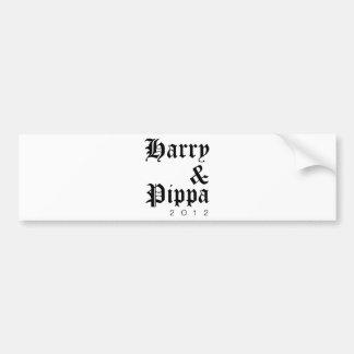 Harry and Pippa 2012 Hip Bumper Sticker
