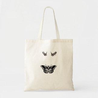 Harry dénomme le papillon et les oiseaux sac en toile budget
