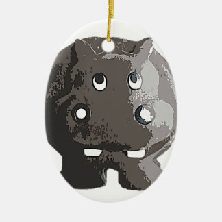 Harry Hippo Ceramic Ornament