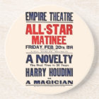 Harry Houdini Restored 1914 white billboard Coaster