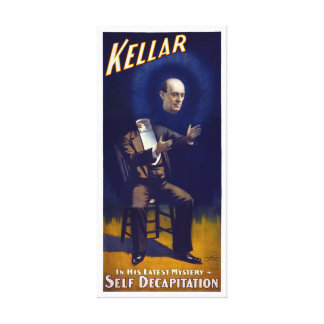 Harry Kellar Magician 1897 Vintage Poster Restored Canvas Print