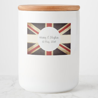 Harry & Meghan Royal Wedding Food Label Set