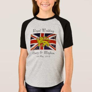 Harry & Meghan Royal Wedding Kids Raglan T-Shirt