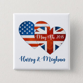 Harry & Meghan Wedding, May 19th 2018 2 Inch Square Button