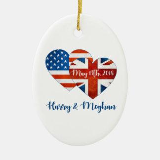 Harry & Meghan Wedding, May 19th 2018 Ceramic Ornament