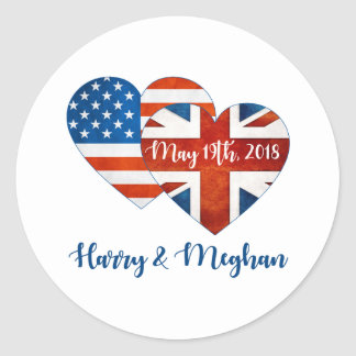 Harry & Meghan Wedding, May 19th 2018 Classic Round Sticker