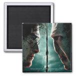 Harry Potter 7 Part 2 - Harry vs. Voldemort Square Magnet