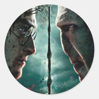 Harry Potter 7 Part 2 - Harry vs Voldemort Round Sticker