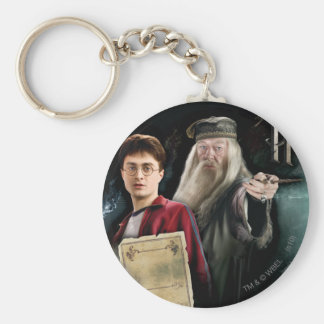 Harry Potter and Dumbledore Keychain