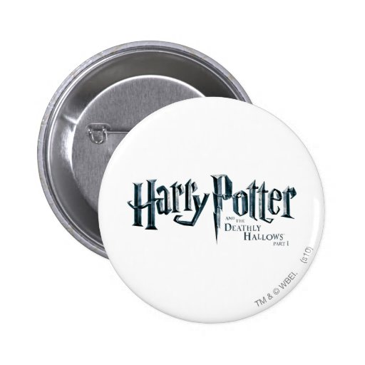 Harry Potter and the Deathly Hallows Logo 1 2 Pinback Button