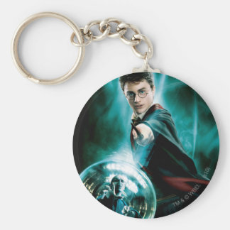 Harry Potter and Voldemort Only One Can Survive Basic Round Button Keychain