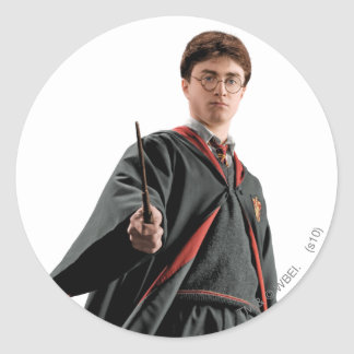 Harry Potter At The Ready Classic Round Sticker