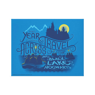 Harry Potter | Black Lake To Hogwarts Canvas Print