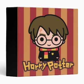 Harry Potter Cartoon Character Art 3 Ring Binders