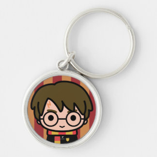 Harry Potter Cartoon Character Art Silver-Colored Round Keychain