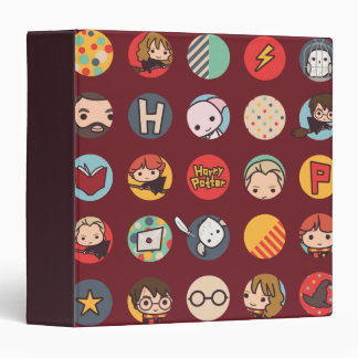 Harry Potter Cartoon Icons Pattern Binders