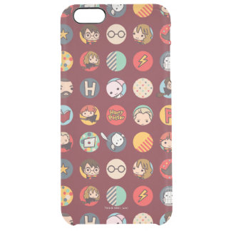 Harry Potter Cartoon Icons Pattern Clear iPhone 6 Plus Case