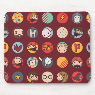 Harry Potter Cartoon Icons Pattern Mouse Pad