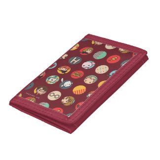 Harry Potter Cartoon Icons Pattern Trifold Wallet