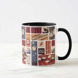 Harry Potter Cartoon Scenes Pattern Mug