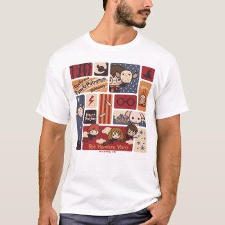 Harry Potter Cartoon Scenes Pattern T-Shirt