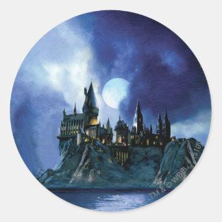 Harry Potter Castle | Hogwarts at Night Round Sticker