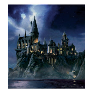 Harry Potter Castle | Moonlit Hogwarts Poster