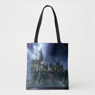 Harry Potter Castle | Moonlit Hogwarts Tote Bag