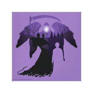 Harry Potter | Death Silhouette Canvas Print