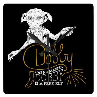 Harry Potter | Dobby Has No Master Square Wall Clock