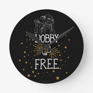 Harry Potter | Dobby Is Free Round Clock
