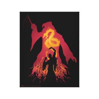 Harry Potter   Dumbledore Silhouette Canvas Print