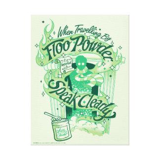 Harry Potter | Floo Powder Typography Graphic Canvas Print