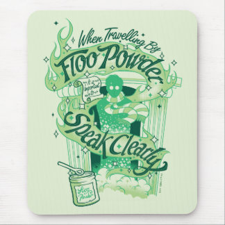 Harry Potter | Floo Powder Typography Graphic Mouse Pad
