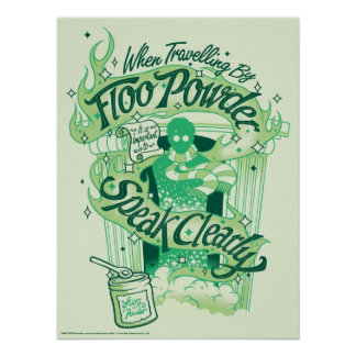 Harry Potter | Floo Powder Typography Graphic Poster