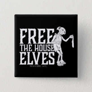 Harry Potter | Free The House Elves 2 Inch Square Button