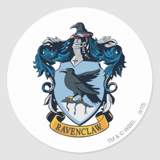 Harry Potter  | Gothic Ravenclaw Crest Round Sticker